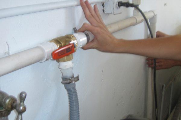 Installazione lavanderia self service